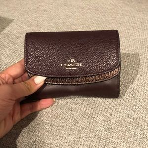 Burgundy small size Coach wallet